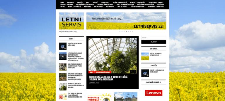 Spouštíme další portál: LETNÍSERVIS.cz